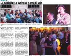 La Galicière à Swingué samedi soir