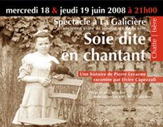 Soie Dite En Chantant |une création pour la Galicière